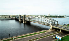 Reconstruction of the Bolsheokhtinsky bridge across the Neva River