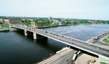 Reconstruction of Volodarsky bridge across the Neva River in St Petersburg
