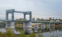 The moveable bridge across the Don River near Rostov City