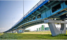 The overpass on the bypass of Khanty-Mansyisk City